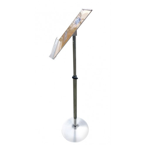 Side View of Height Adjustable Lectern