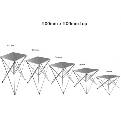 500 x 500mm Trade Show Table