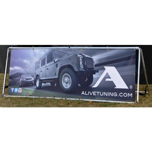 Lightweight banner frame