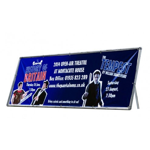 Heavy duty portable banner frame