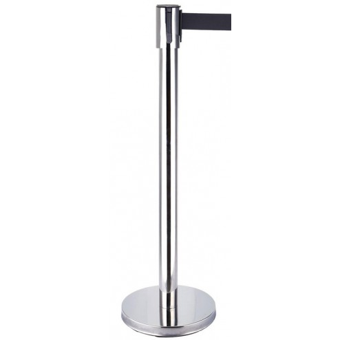 Silver post retractable barrier