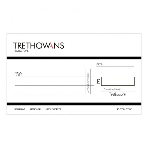 Big Oversized Charity and Promotional Cheques - Black