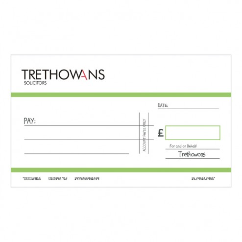 Big Oversized Charity and Promotional Cheques - Bright Green
