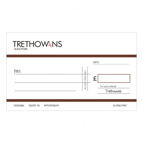 Big Oversized Charity and Promotional Cheques - Brown