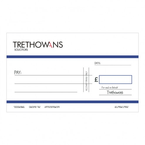 Big Oversized Charity and Promotional Cheques - Dark Blue
