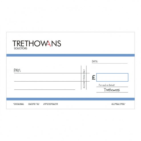 Big Oversized Charity and Promotional Cheques - Light Blue