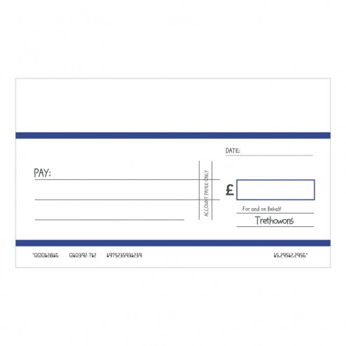 Big Oversized Charity and Promotional Cheques Without Custom Logo