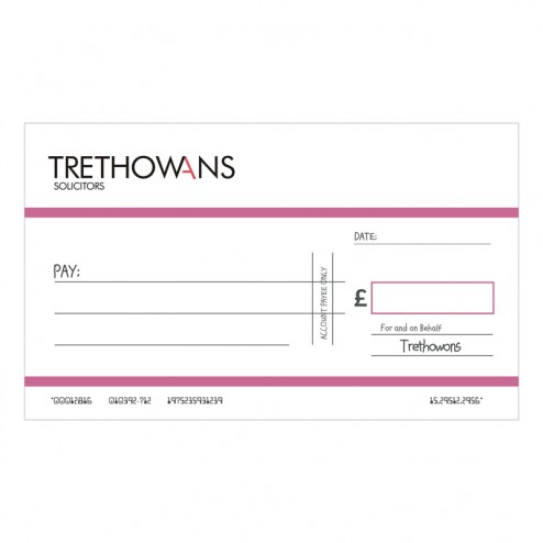 Big Oversized Charity and Promotional Cheques - Pink