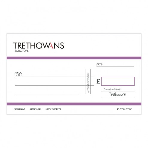 Big Oversized Charity and Promotional Cheques - Purple