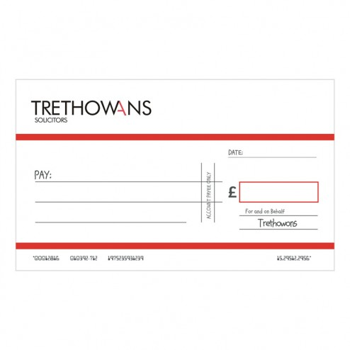 Big Oversized Charity and Promotional Cheques - Red