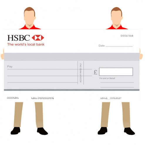 Big Promotional Cheque for Banks - 1800 x 1040mm