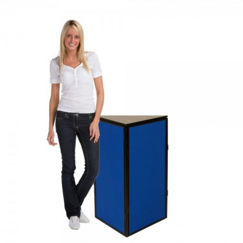 Fold flat trade show display plinth