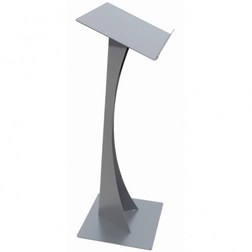 Contemporary Silver Lectern Podium