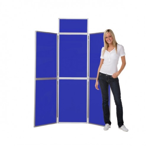 Blue Panel Folding Panel Display