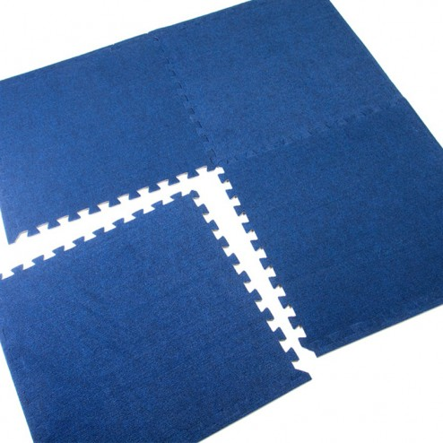 Blue carpet tiles