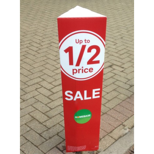 Bollard Covers Printed Correx Bollard Covers
