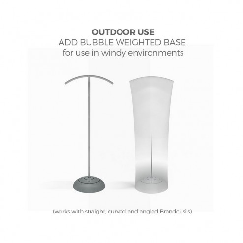 The Optional Weighted Bubble Base Allows For Outdoor Use