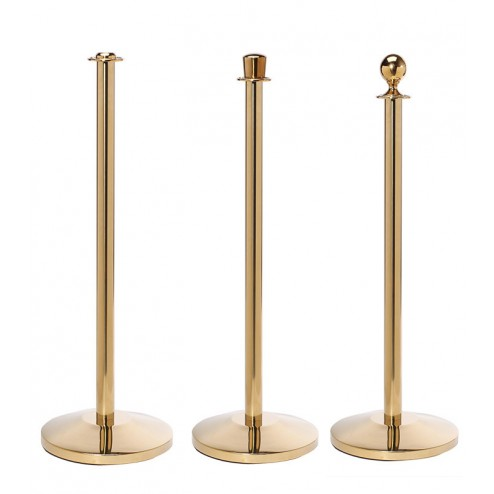Brass finish Flat, crown and ball tops