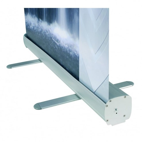Silver roller banner stand base