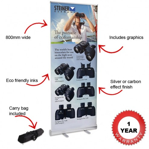 Roller banner features