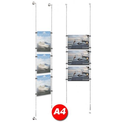 3x A4 Poster Holder Kit