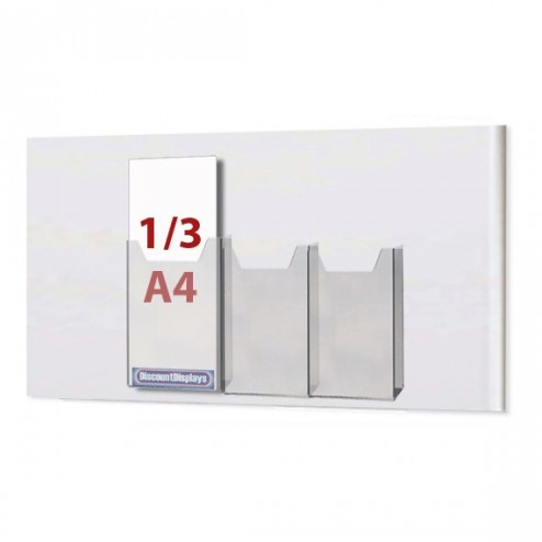 3x1/3 A4 Leaflet Dispenser on A2 Centre