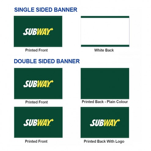 Double sided or single sided cafe banner