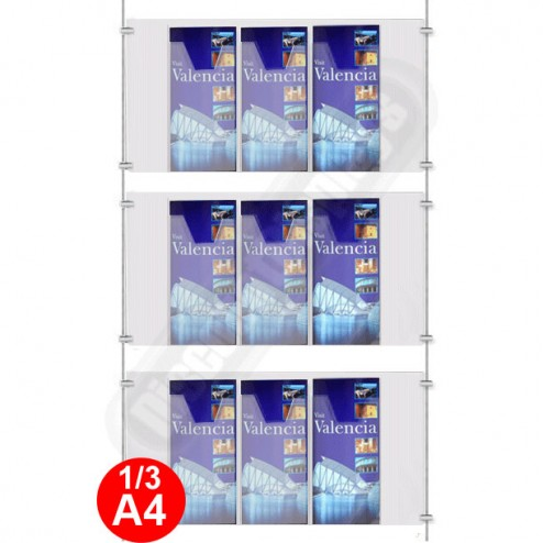 9x 1/3 A4 Leaflet Dispenser Kit