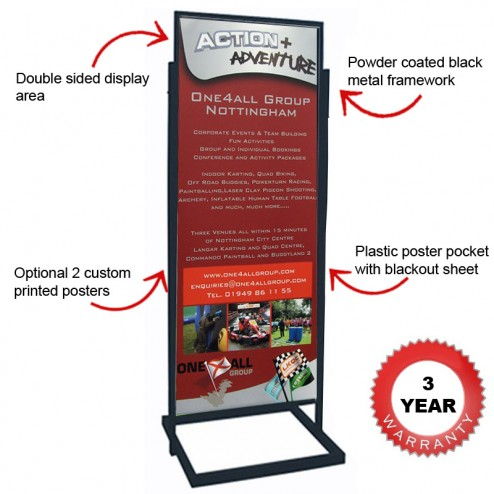 Features of 1895mm poster display