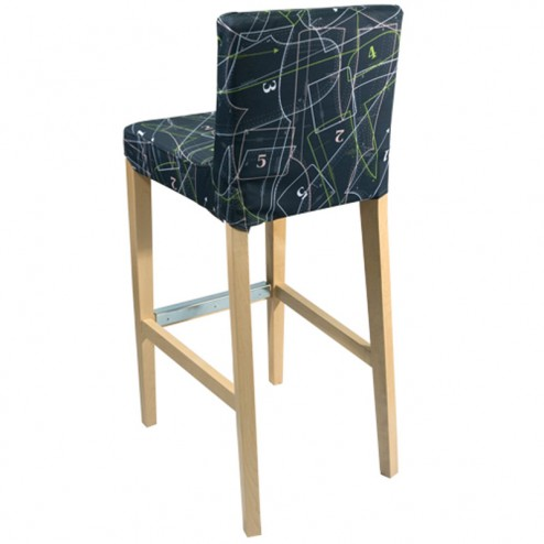 Wooden Bar Stool Rear