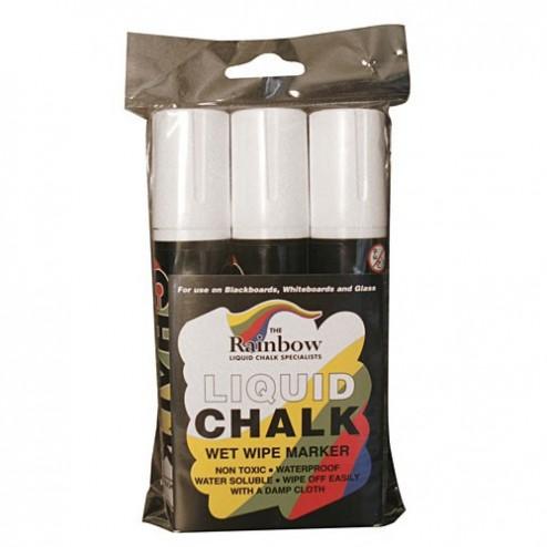Liquid Chalk Pens - White 3 Pack