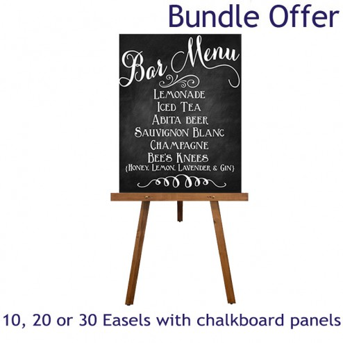 Chalkboard and easel bundle special offer