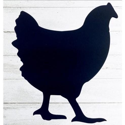 Chicken shaped wooden chalkboard