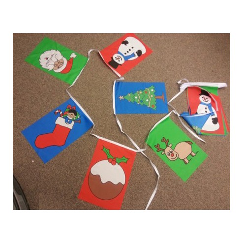 Christmas Flag Bunting - Various Designs