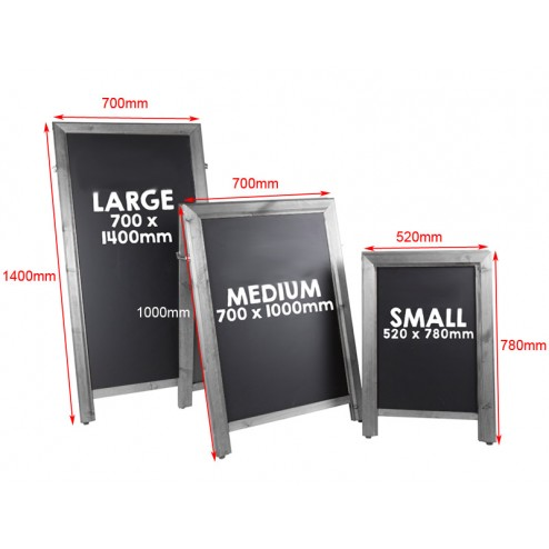 Quality A Frame Chalkboard Discount Displays