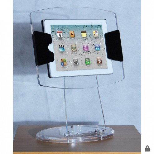 Clear Acrylic iPad Display Case Stand