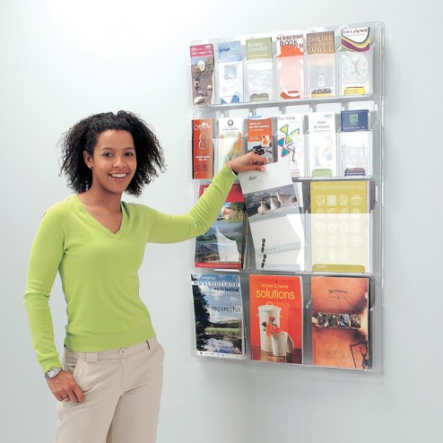 Versatile Wall Mounted Acrylic Leaflet Holder
