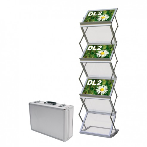 6xA4 Double Sided Portable Literature Rack