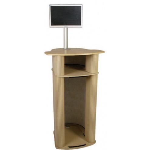 Computer Exhibition Pod with internal shelf