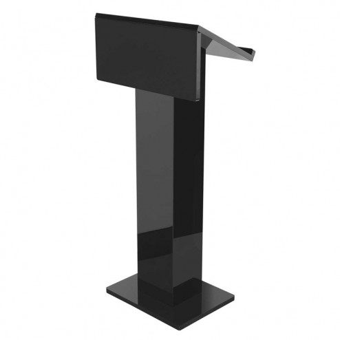 Black Acrylic Concierge Lectern