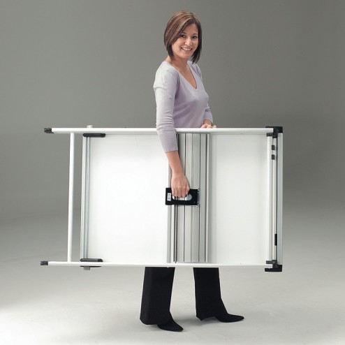 Easel folds away for ease of transport