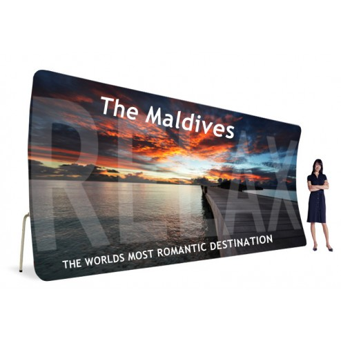 6m Wide back wall display