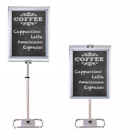 Height Adjustable Chalkboard Stand