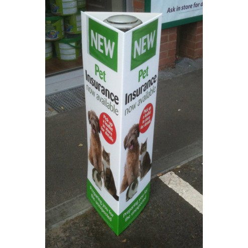 Full colour printed correx bollard cover