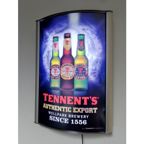 A2 Curved Poster Lightbox Display