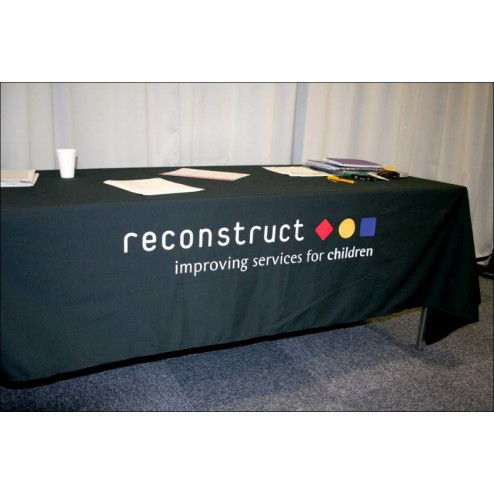 Custom printed trade show table cloth