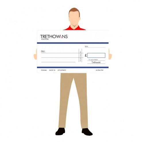 Custom Printed Promotional Cheque - Medium