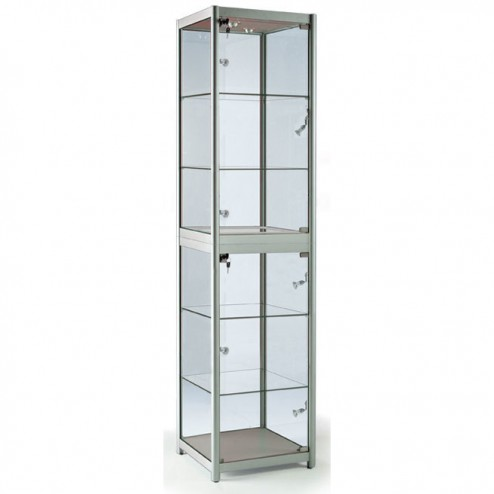 Folding Display Cabinet - Silver