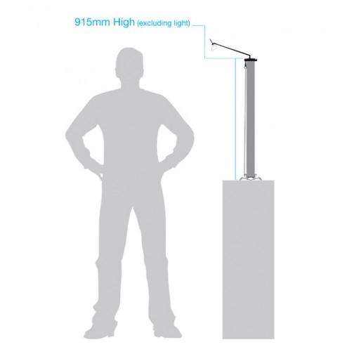 Desktop banner stand dimensions - 915mm high