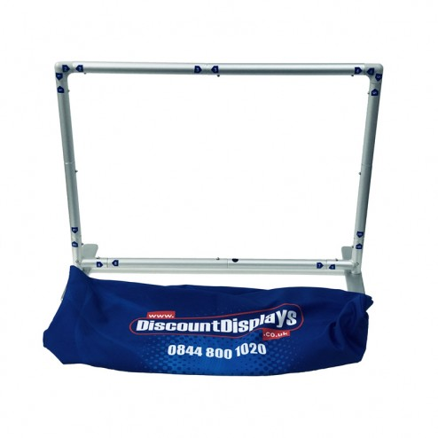 Straight model frame with double sided custom fabric graphics
